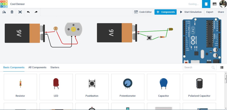 TinkerCAD a digitális áramkörépítő