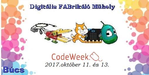 EU Kódolás Hete a Digitális FABrikáló Műhelyben
