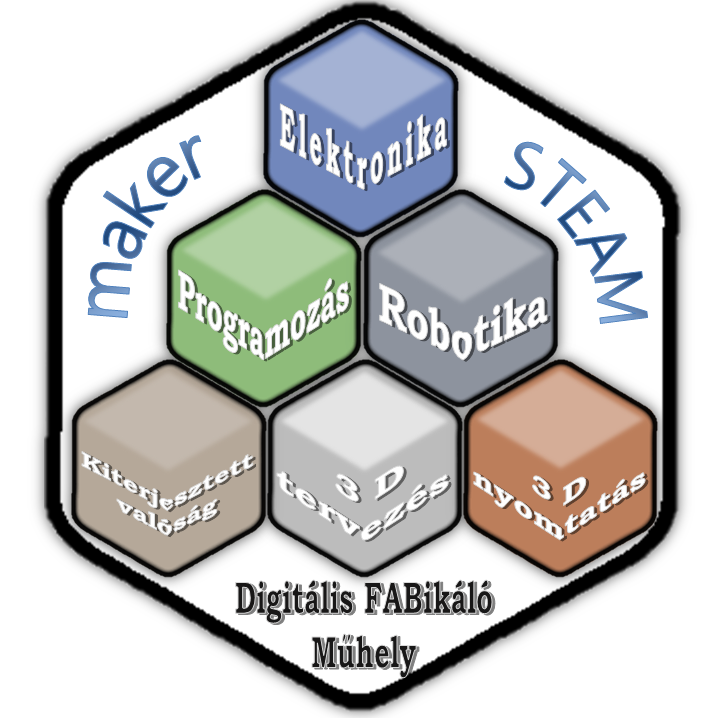 A Digitális FABrikáló Műhelyünk a 2017/18-as tanévben