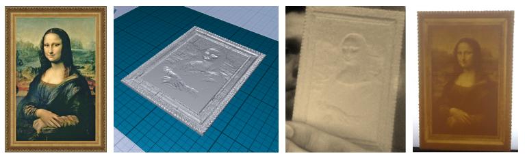 Litofán technikával készített 3D nyomat