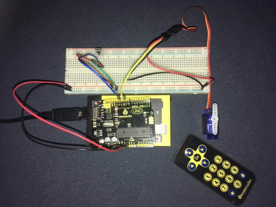 Távirányító használata Arduino UNO-val